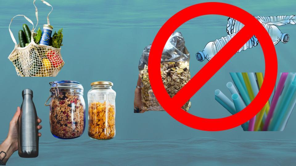 Disminuye el uso de plásticos de un solo uso