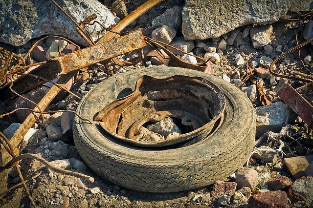 Microplastic - car tires